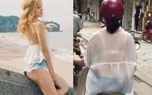 """Áo """"vải màn tuyn"""" và """"quần 1 gang tay"""" có đang là mốt thịnh hành của phái đẹp Việt"""