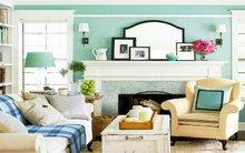 Những căn phòng màu bạc hà xanh mát