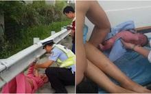 Cảnh sát giao thông đỡ đẻ cho thai phụ chuyển dạ giữa đường