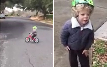Con bị ngã xe đạp và cách ứng xử bình tĩnh tuyệt vời của ông bố Tây