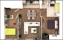 10 mẫu căn hộ 60m² 2 phòng ngủ có thiết kế cực hợp với thói quen sinh hoạt ở Việt Nam