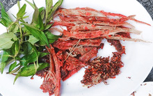Về KrongPa ăn bò một nắng nướng muối kiến lá é