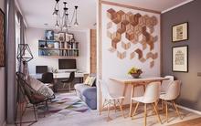 Không cần nhà to, căn hộ 40m² này đã đủ để đáp ứng mọi nhu cầu của một gia đình 3 người
