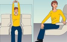 10 động tác yoga có thể thực hiện ngay cả khi ở trên máy bay