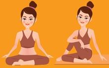 Tập 10 động tác yoga này, chị em giảm hẳn nỗi lo lắng khó có con