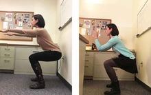 Chăm chỉ tập squat vào giờ nghỉ ở công ty và điều thần kì đã xảy ra...