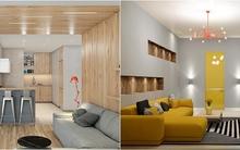 Ấn tượng với 2 căn hộ có cùng chất liệu gỗ nhưng khác biệt hoàn toàn về phong cách