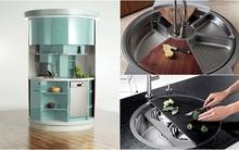 Những thiết kế bồn rửa bát cứu cánh cho bếp chật đẹp hoàn hảo