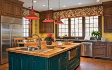 Nguồn cảm hứng mạnh mẽ cho phòng bếp từ những gam màu đậm