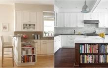 Ý tưởng thiết kế giá sách độc đáo và sáng tạo ngay trong phòng bếp