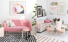 Không gian sống ngọt dịu và đầy nữ tính với sự góp mặt của sắc hồng phấn