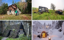 """10 ngôi nhà siêu nhỏ như """"lọt thỏm"""" giữa trời mây sông nước"""