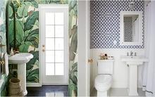 Phòng tắm vừa đẹp vừa ấn tượng nhờ những mẫu giấy dán tường