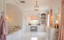 Những phòng tắm đầy nữ tính với sắc hồng tươi dịu mát