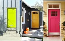 Cánh cửa màu đậm – điểm nhấn độc đáo cho ngôi nhà