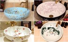Ấn tượng với những mẫu bồn rửa mặt có họa tiết hoa tuyệt đẹp