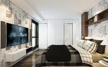 Cải tạo phòng ngủ 12m² của vợ chồng mới cưới với nhược điểm có quá nhiều cửa chiếu thẳng vào giường