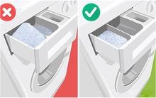 90% chị em đều mắc phải sai lầm cực kì tai hại này khi dùng máy giặt