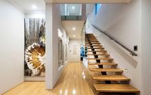 20 mẫu cầu thang đẹp đến bất ngờ nhờ kết hợp gỗ và kính