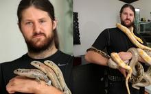 Người đàn ông chung sống với rắn, thằn lằn, nhện