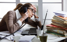 Tác hại khi làm việc trong văn phòng
