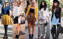 Đa phong cách street style thế giới ngày giao mùa
