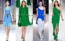 Sắc xanh độc đáo trở lại sàn catwalk Xuân 2012