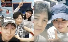 Jang Na Ra nhí nhảnh bên mẹ và anh trai