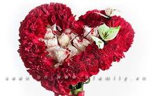 Bó hoa hình trái tim ngọt ngào tặng người thân yêu
