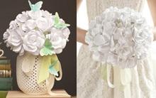 Biến giấy trắng thành bó hoa hồng siêu lãng mạn