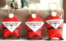 3 bước đơn giản làm ông già Noel từ giấy