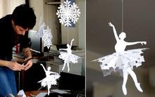 Trang trí Noel với hoa tuyết kirigami tuyệt đẹp