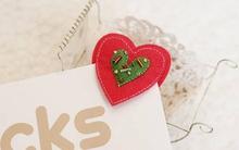 3 bước đơn giản làm kẹp sách trái tim dễ thương