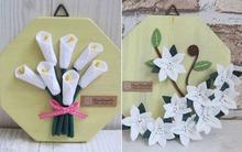 2 cách làm tranh hoa vải trang trí nhà thêm xinh