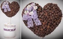 Tự làm cà phê khử mùi hình trái tim xinh xắn
