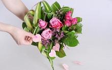 Hướng dẫn cách bó hoa hồng thành trái tim lãng mạn