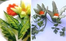 2 cách tỉa dưa chuột thành hoa dễ dàng mà đẹp
