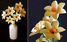 3 bước đơn giản làm hoa thủy tiên giấy