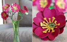 3 bước đơn giản làm hoa giấy trang trí nhà mình