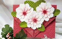 Tự làm thiệp hoa xinh yêu tặng mẹ dịp 20-10