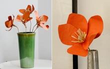 Khéo tay làm hoa giấy rực rỡ trang trí nhà mình