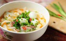 Bánh canh trứng cút đổi món cuối tuần