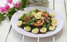 Ăn ngon mà giảm cân với rau càng cua trộn dầu giấm