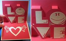 Làm thiệp nổi siêu đáng yêu cho mùa Valentine