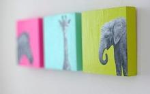 4 bước làm bộ tranh xinh trang trí phòng cho bé