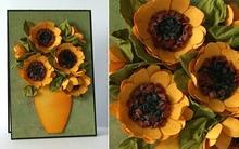 Cách làm hoa hướng dương trang trí thiệp đáng yêu