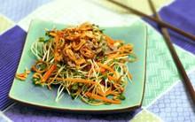 Mát giòn ngon miệng với món salad rau mầm