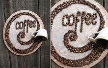 Dùng hạt cà phê làm tranh treo tường vừa đẹp vừa thơm