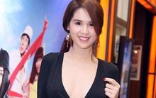 """Ngọc Trinh gợi cảm diện váy cổ rộng """"thênh thang"""""""