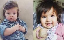 Những em bé sơ sinh có mái tóc khiến người khác không thể tin nổi vào mắt mình